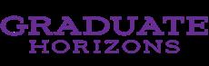 "logo of purple words that read ""graduate horizons"""