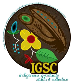 a circle emblem logo for the indigenous graduate student collective