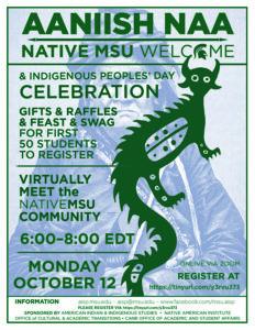 flyer for aaniish naa celebration